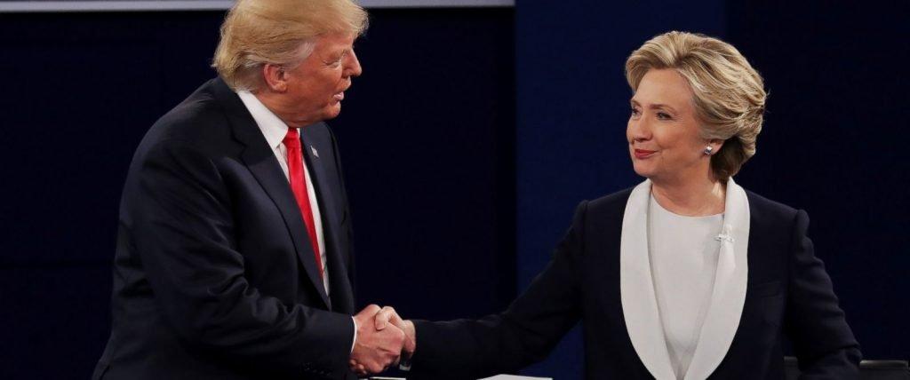 Дональд Трамп и Хиллари Клинтон во время дебатов. Фото abcnews.com