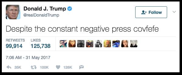 Трамп вскоре удалил свой твит. Фото: meduza.io