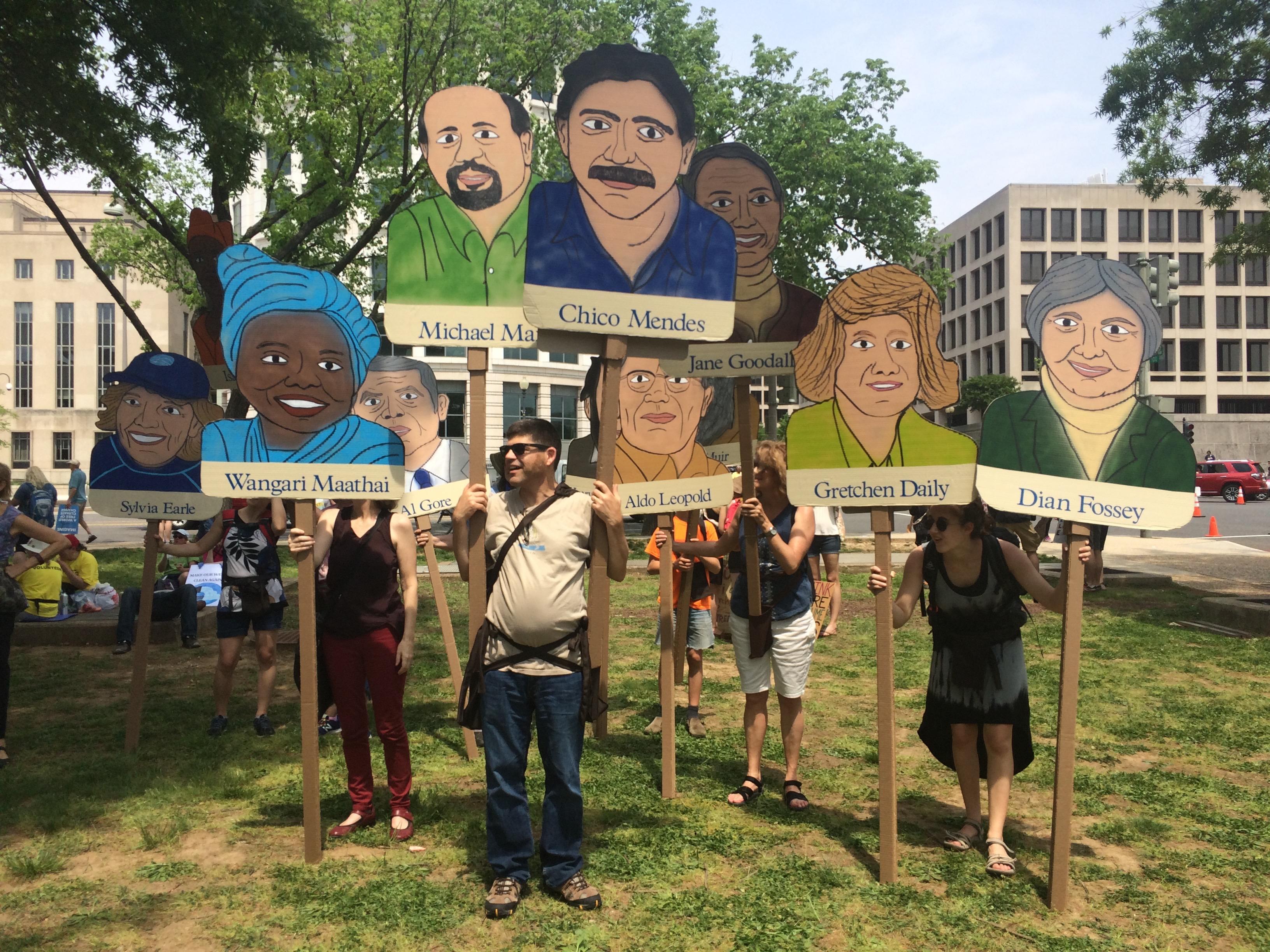 Портреты выдающихся экологов. Фото: vox.com