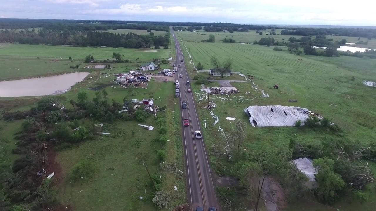 Последствия торнадо в Техасе. Фото: youtube.com