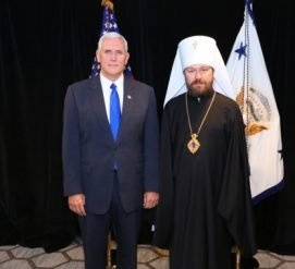 Российский митрополит неофициально встретился с вице-президентом США