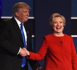 Клинтон перед дебатами с Трампом репетировала, как уклониться от объятий