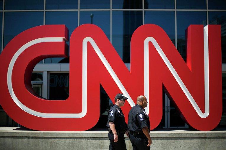 Логотип телеканала CNN в Атланте, США. Фото  AP Photo