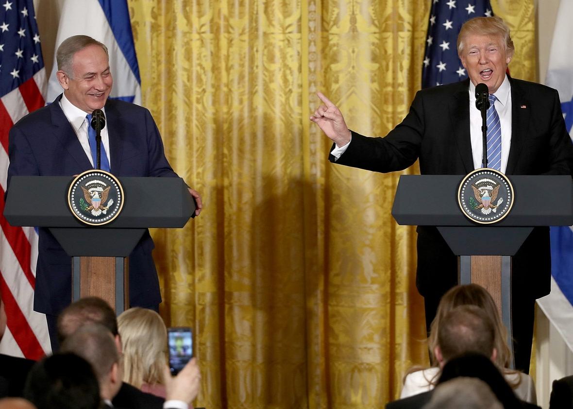 Трамп и Нетаньяху в США. Фото: slate.com