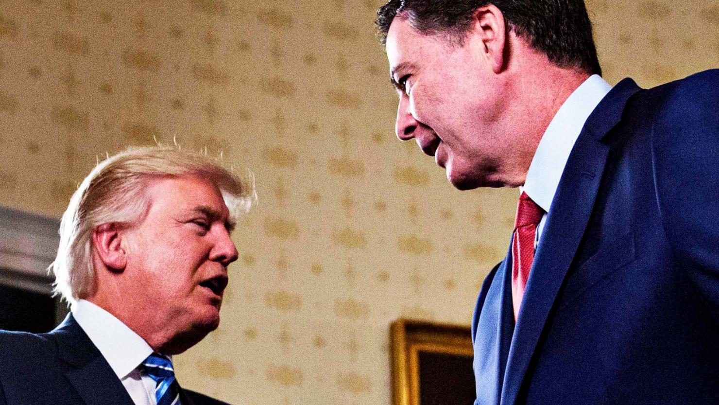 Дональд Трамп и Джеймс Коми. Фото: thedailybeast.com