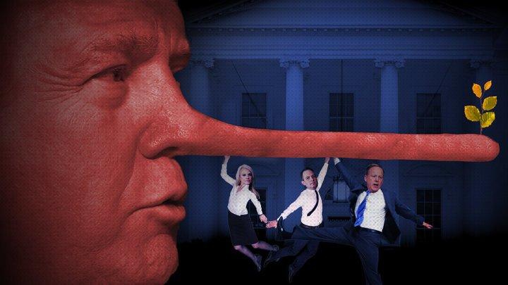 Оказывается, Дональд Трамп немало врал на президентском посту. Фото: huffingtonpost.com