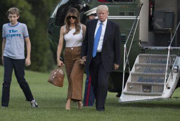 Мелания Трамп наконец-то переехала с сыном в Белый дом
