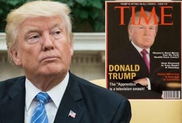 ФОТО: В гольф-клубах Трампа нашли поддельные обложки журнала Time