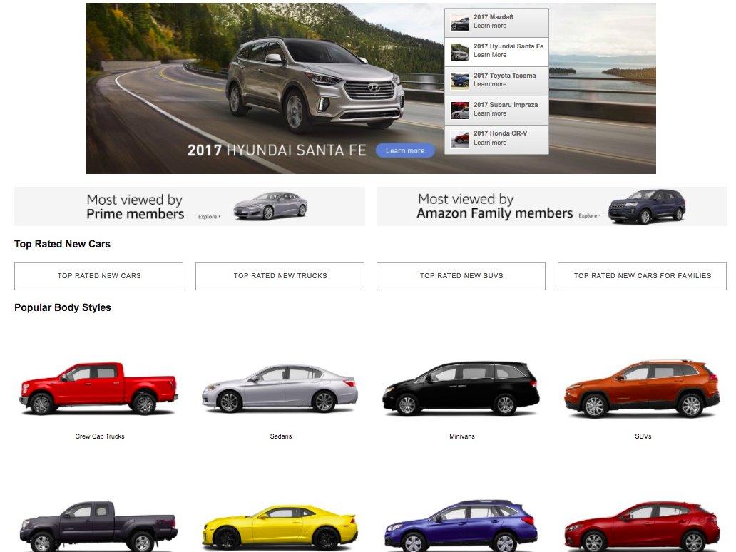 Раздел Amazon Vehicle. Фото: businessinsider.com