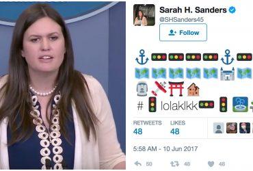 Представитель Белого дома опубликовала в Twitter загадочный набор символов