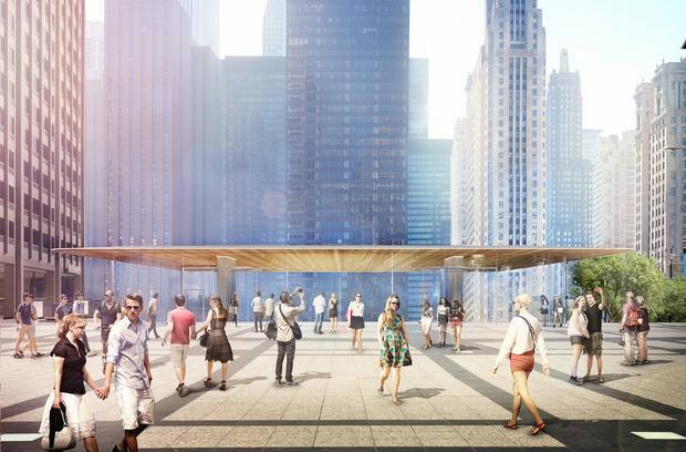 Проект здания от Foster + Partners. Фото: dnainfo.com