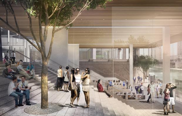 Магазин будет построен со стеклянными стенами. Фото: dnainfo.com