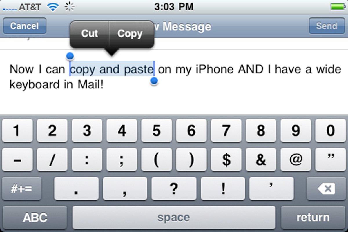 Копировать текст на первом iPhone невозможно. Фото: businessinsider.com