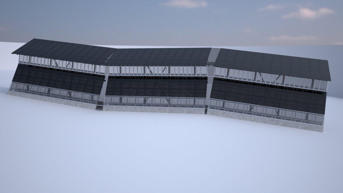 Так будут выглядеть солнечные батареи на границе. Фото: businessinsider.com