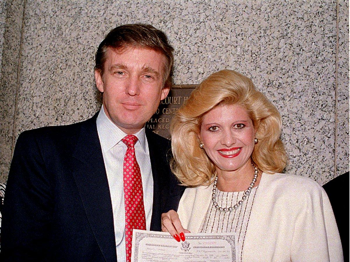 Ивана Трамп получила американское гражданство, 1988 год. Фото: businessinsider.com