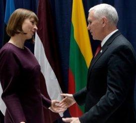 Вице-президент США назвал Россию главной угрозой для Эстонии, Латвии и Литвы