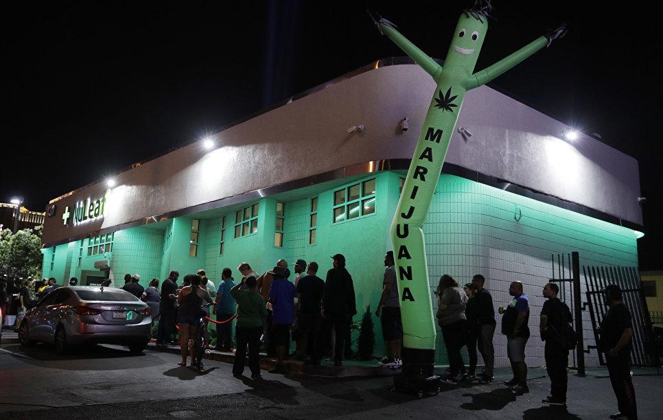 Продажа марихуаны в штате Невада, 1 июля 2017. Фото AP Photo