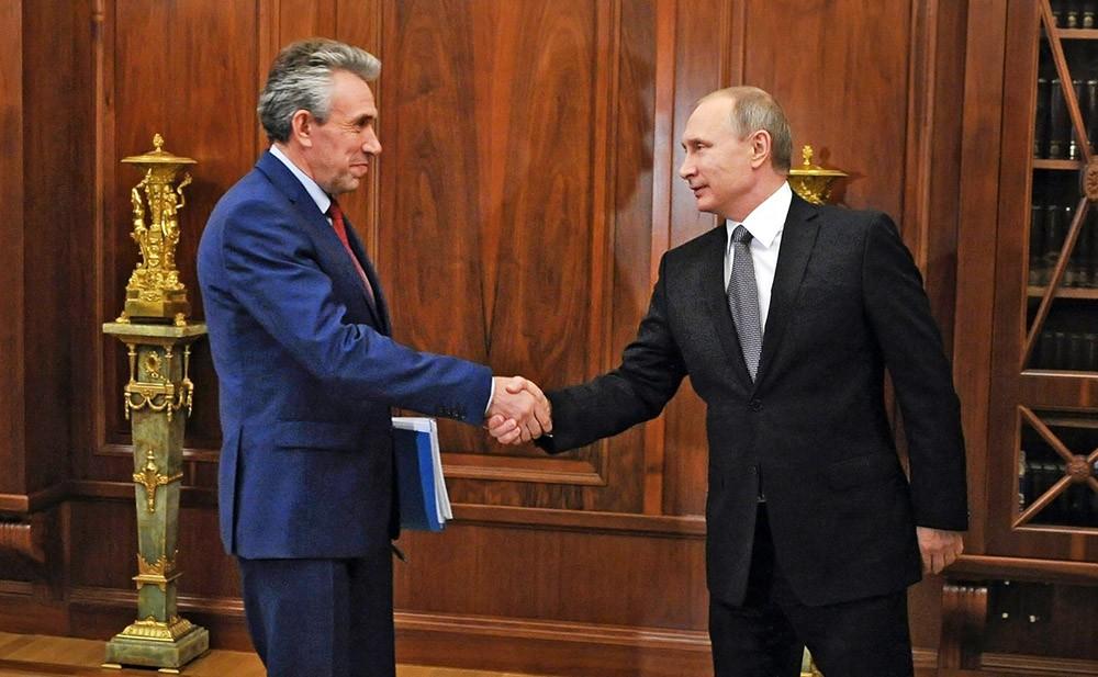 Сергей Горьков и Владимир Путин. Фото: tvc.ru