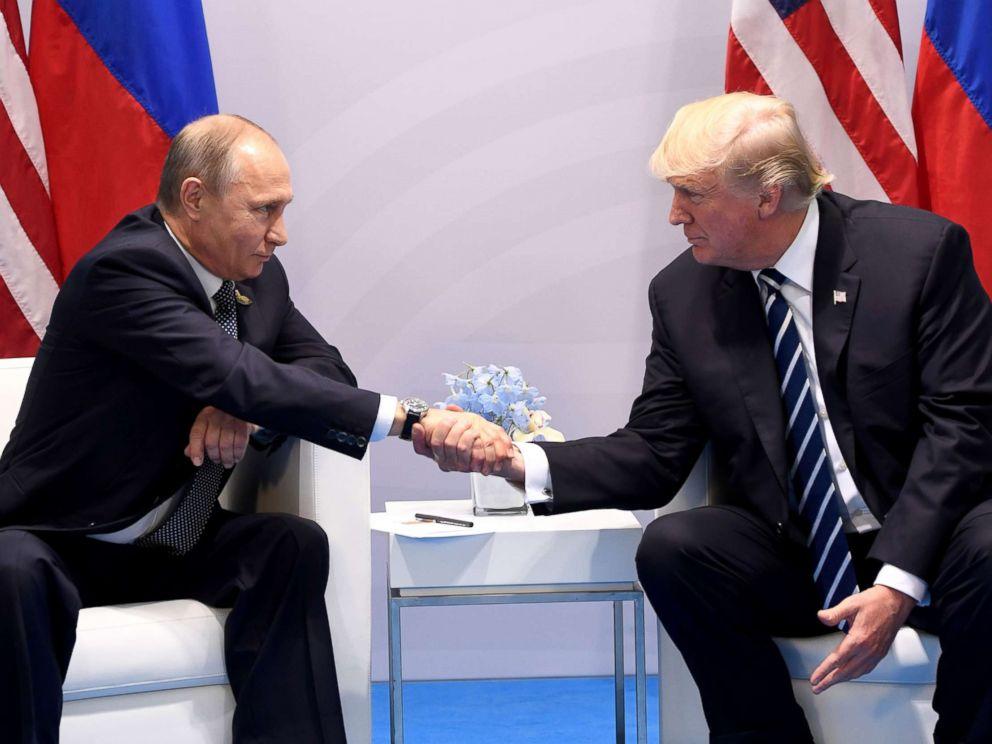 Встреча Дональда Трампа и Владимира Путина. Фото: abcnews.go.com