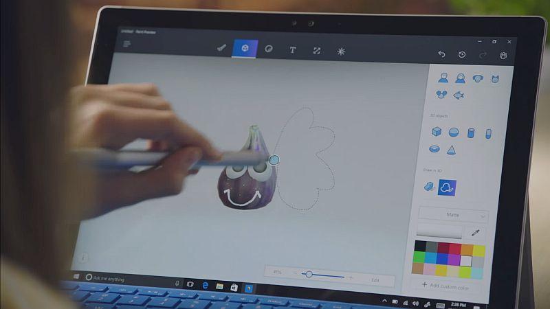 Paint 3D - новая разработка компании. Фото: gadgets.ndtv.com