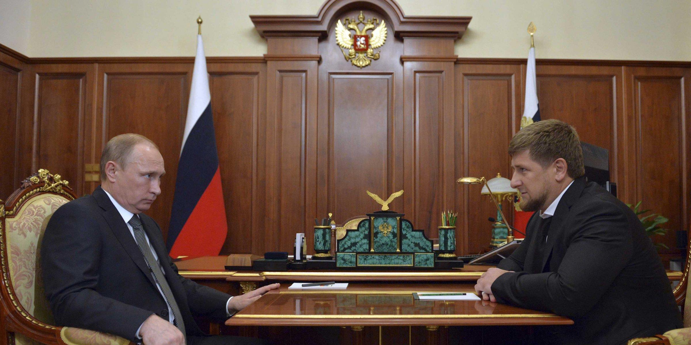 Владимир Путин и Рамзан Кадыров на встрече в Кремле. Фото: businessinsider.com