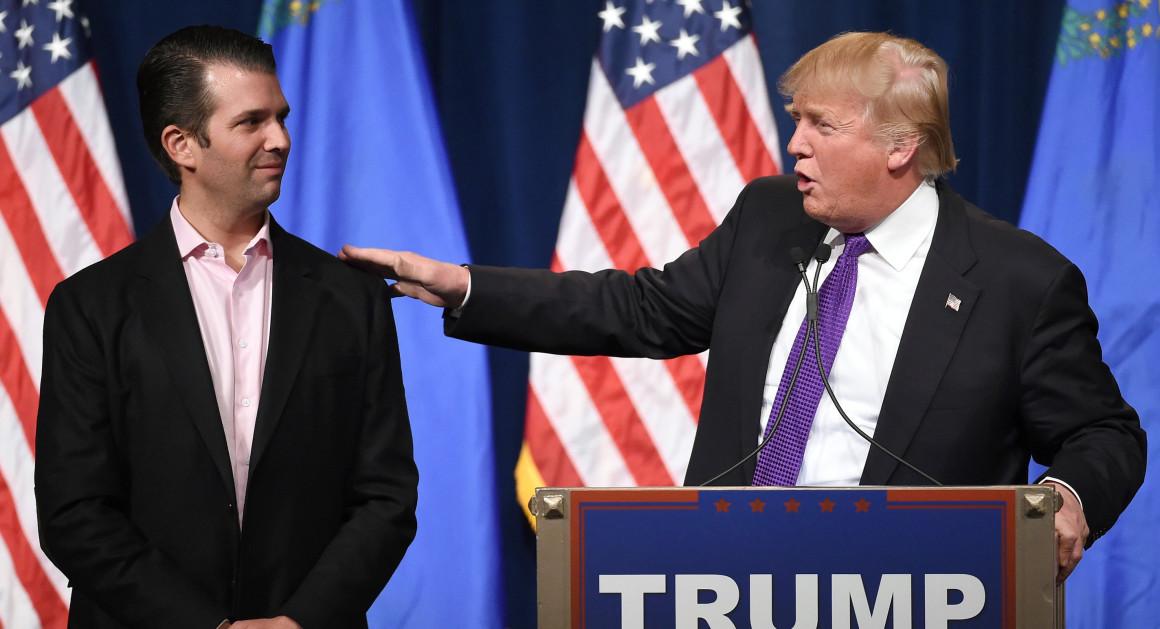 Дональд Трамп-младший опубликовал компрометирующие имейлы. Фото: politico.com