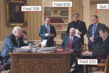 Весь хаос, царящий в администрации Трампа, передан одной фотографией