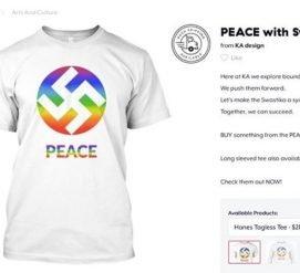 Американская компания выпустила футболки со свастикой