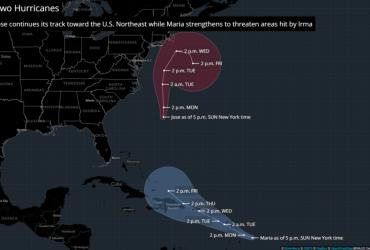 Ураган Хосе приближается к Нью-Йорку и Нью-Джерси