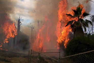ВИДЕО: В Южной Калифорнии вспыхнули пожары