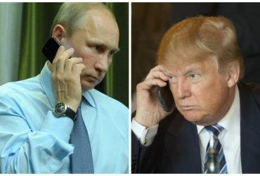 Путин позвонил Трампу и поблагодарил ЦРУ за помощь в предотвращении теракта