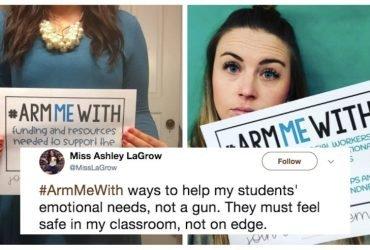 В социальных сетях проходит флешмоб против вооружения учителей