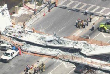 ВИДЕО: В Майами обрушился пешеходный мост. Есть погибшие