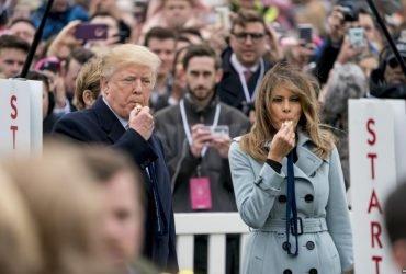ФОТО: Дональд и Мелания Трамп отпраздновали Пасху с тысячами детей