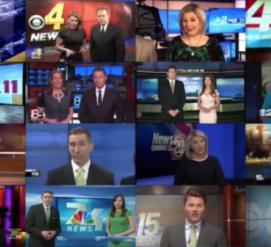 ВИДЕО: Журналисты американских телеканалов прочли одинаковый текст о «фейковых новостях»