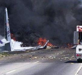 Возле аэропорта в Джорджии потерпел крушение военный самолет. Пятеро погибших