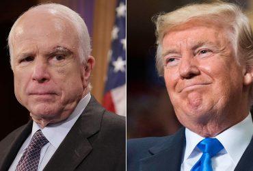 Трамп запретил публиковать пресс-релиз о смерти Маккейна
