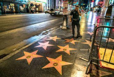 ФОТО: На Аллее славы появились десятки звезд с именем Трампа