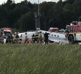 Возле аэропорта Гринвилла разбился самолет. Дороги перекрыты, жителей просят держаться подальше