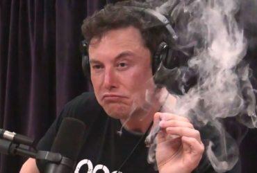 Илон Маск выкурил косяк на интервью. Акции Tesla резко упали