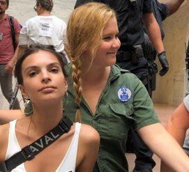 Голливудскую модель и известного комика арестовали на акции против предполагаемого судьи-насильника