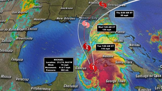 Ураган Майкл усилился до четвертой категории. Жителей 22 округов призвали эвакуироваться