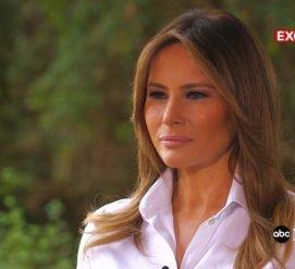 """О куртке """"Мне плевать"""", изменах мужа и MeToo: что рассказала Мелания Трамп в интервью ABC"""