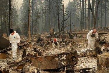 Количество пропавших без вести из-за пожаров в Калифорнии сократилось