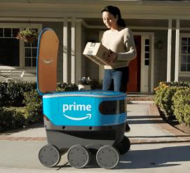 Amazon тестирует роботов для доставки заказов — они уже ездят в Сиэтле (видео)