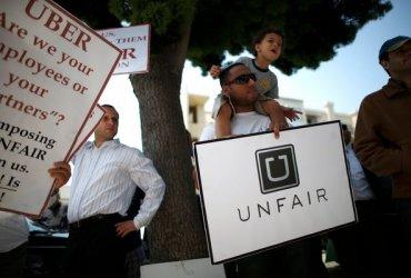 Водители Uber бастуют. Они хотят стать полноценными сотрудниками