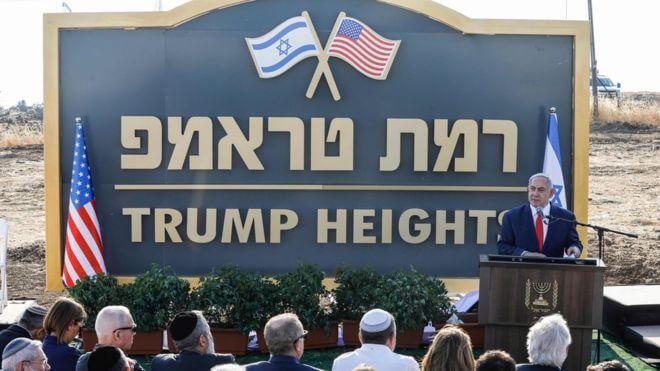 Именем Трампа назвали поселок на Голанских высотах