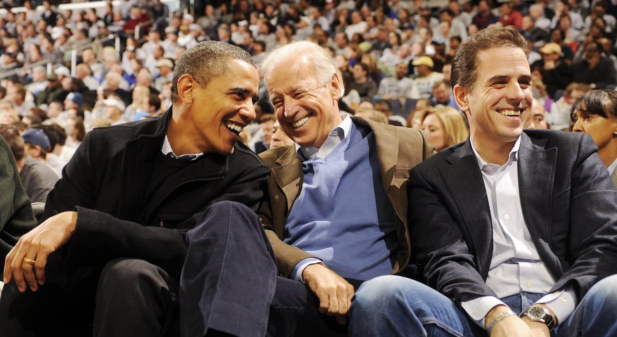 лидеры демократов Барак Хуссейнович Обама и Байден с сыном