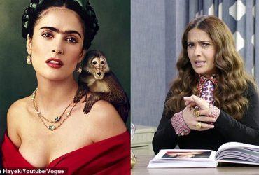 Сальма Хайек рассказала, как во время съемок фильма на нее напала обезьяна
