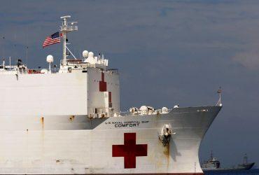 Пентагон передает два корабля под временные госпитали